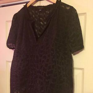 Ann Taylor short sleeved sheer blouse.